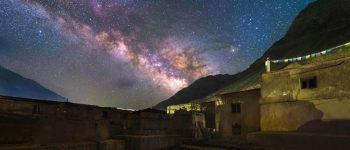 تصاویر) + زیبایی آسمان شب در تبت (